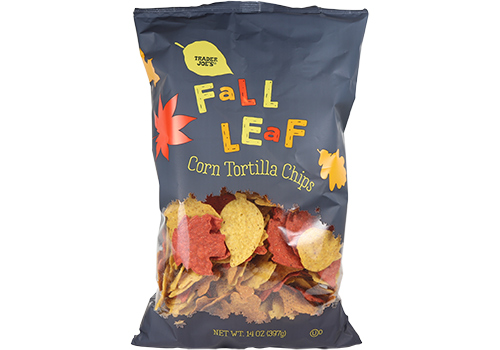 Fall Leaf Tortilla Chips