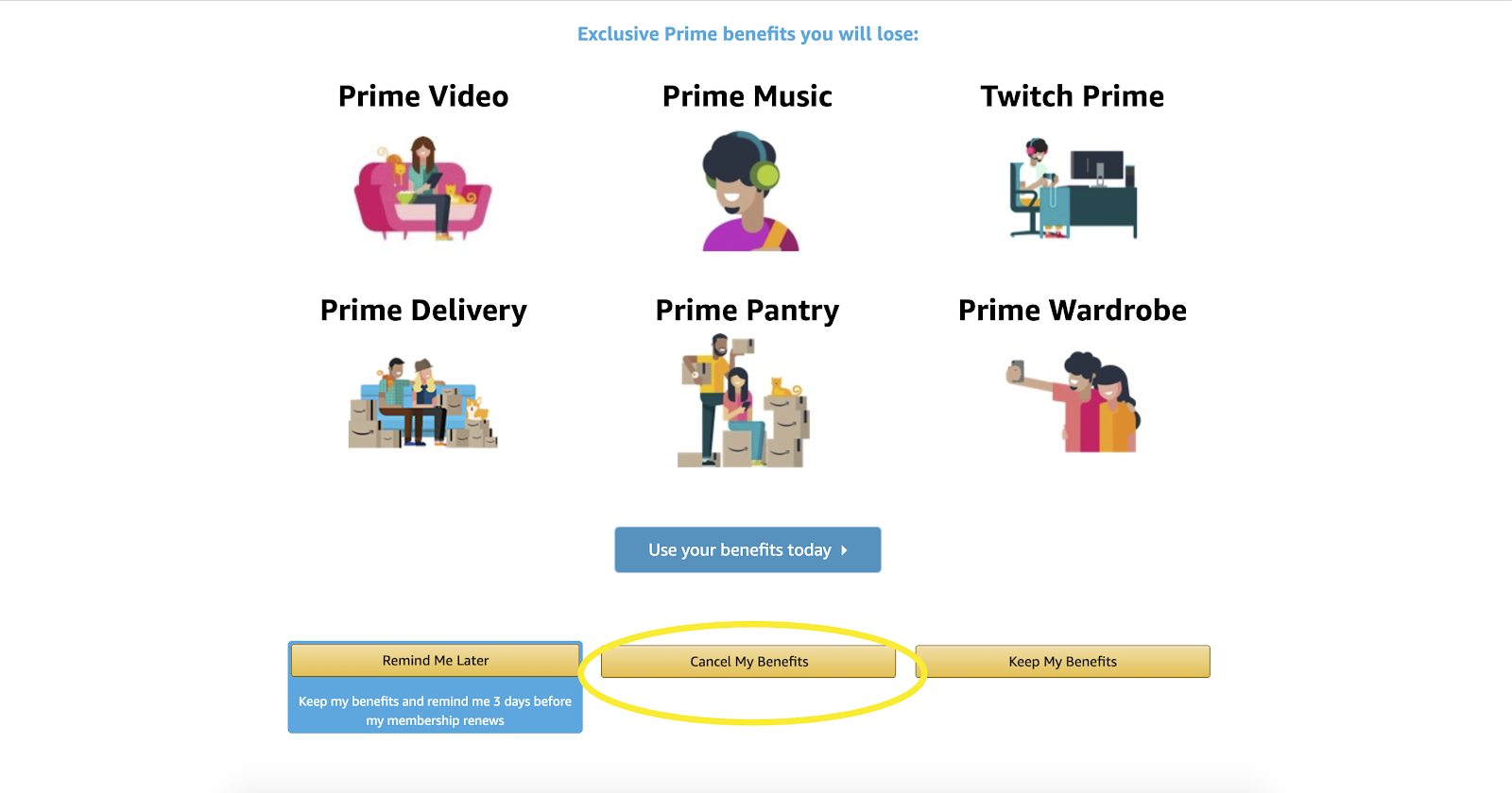 Cancel Amazon Prime Membership Step 4