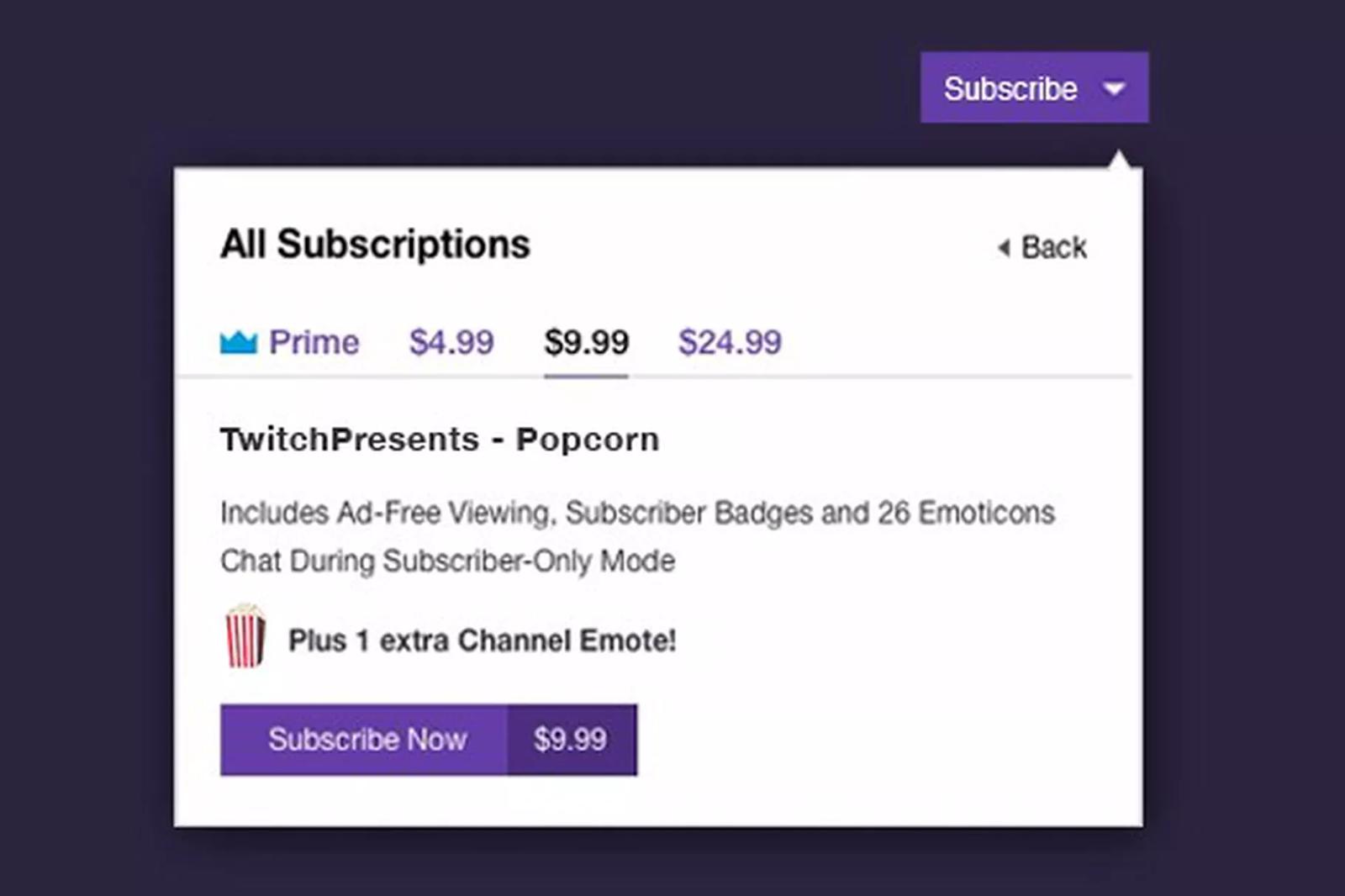 Twitch Price Tiers