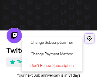 Cancel Twitch Subscription App