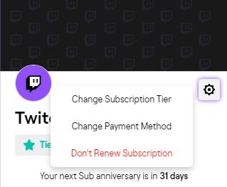 Cancel Twitch Subscription App
