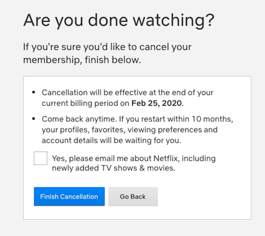 Cancel Netflix Subscription Step 4