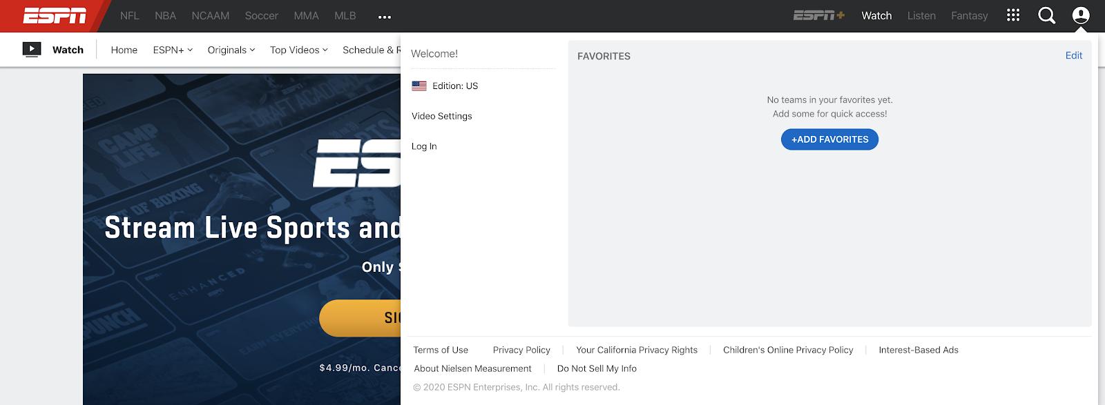 Cancel ESPN+ Subscription Step 2