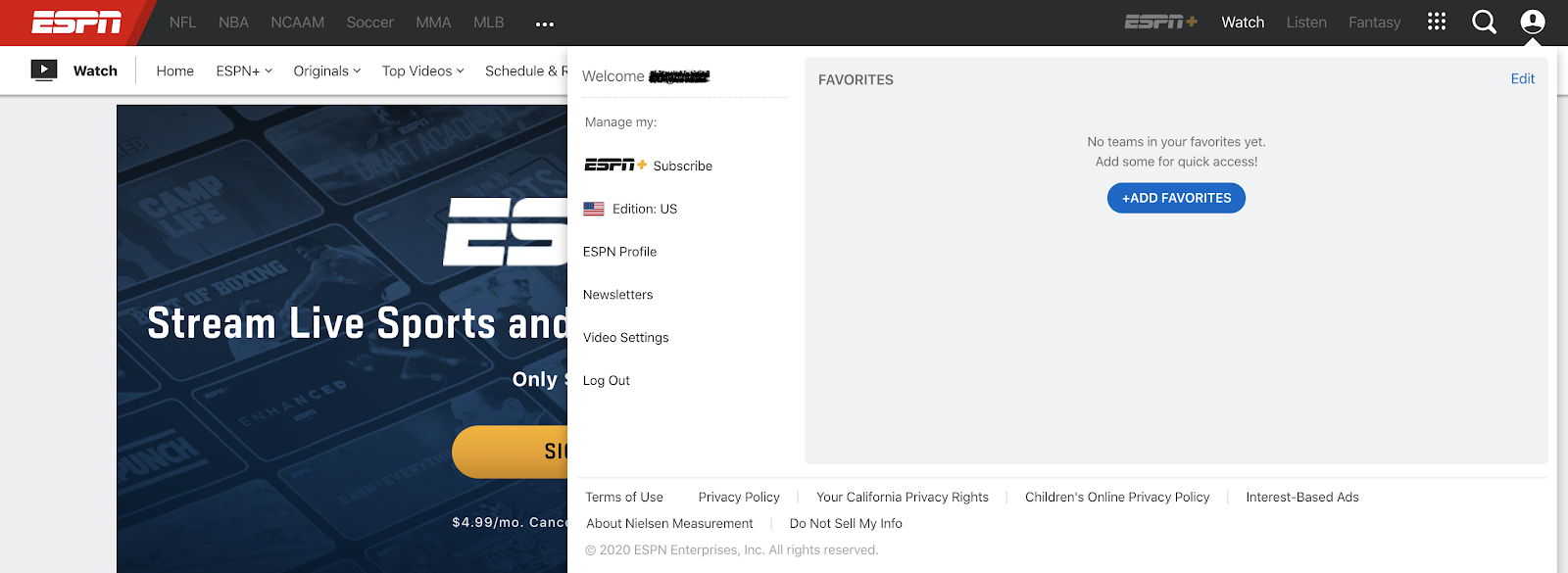 Cancel ESPN+ Subscription Step 4