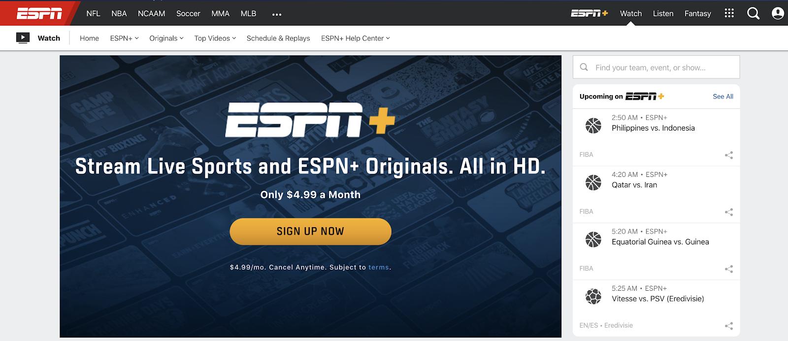 Cancel ESPN+ Subscription Step 1