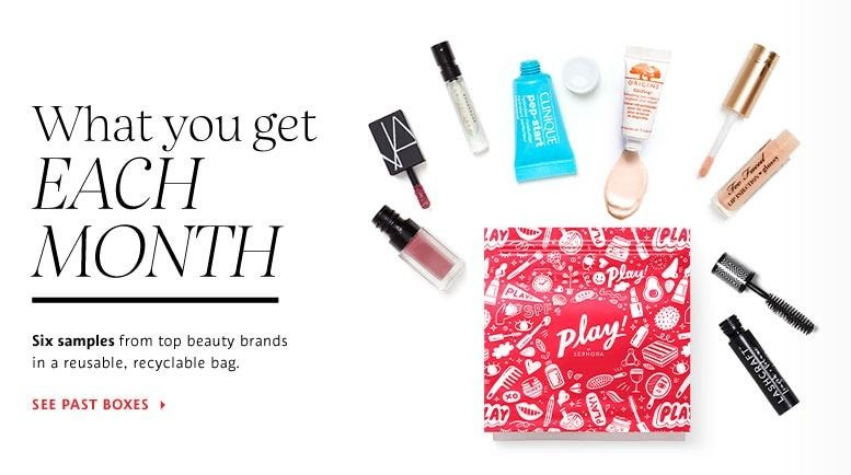 What you get each month from PLAY! by Sephora