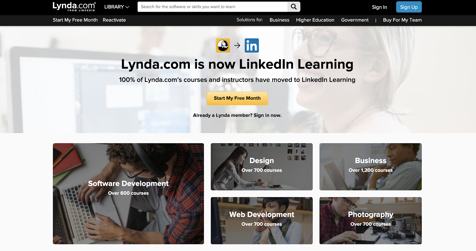 Lynda Official Website