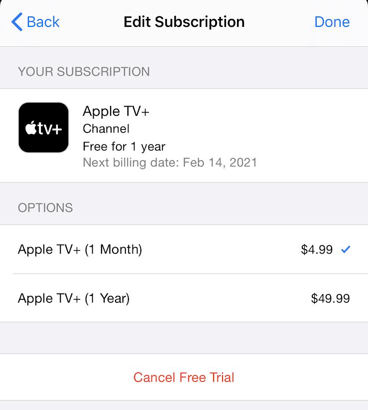 Cancel Apple TV+ Subscription Step 5