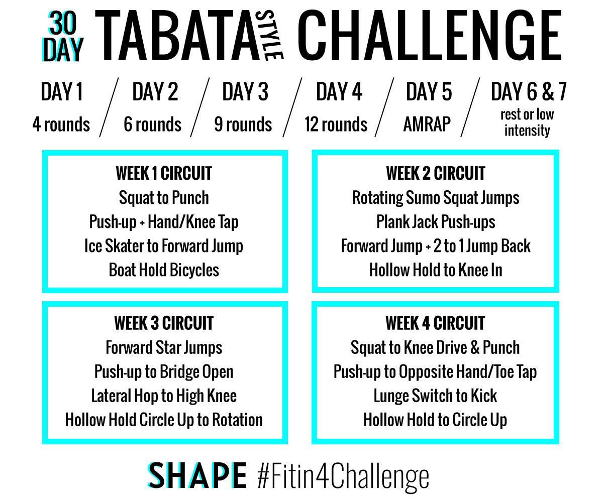 30 Day Tabata Challenge