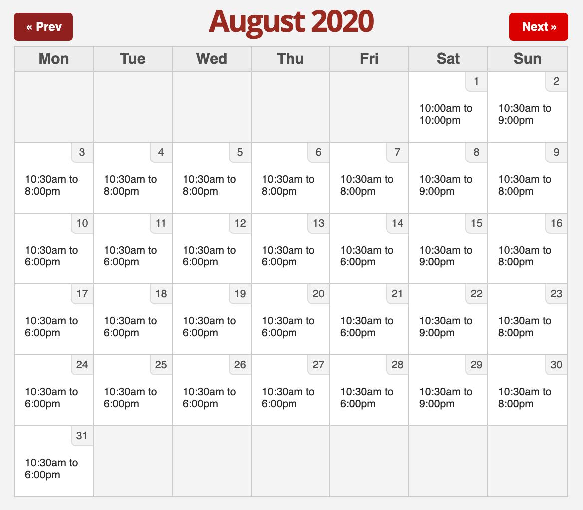 Six Flags 2020.8