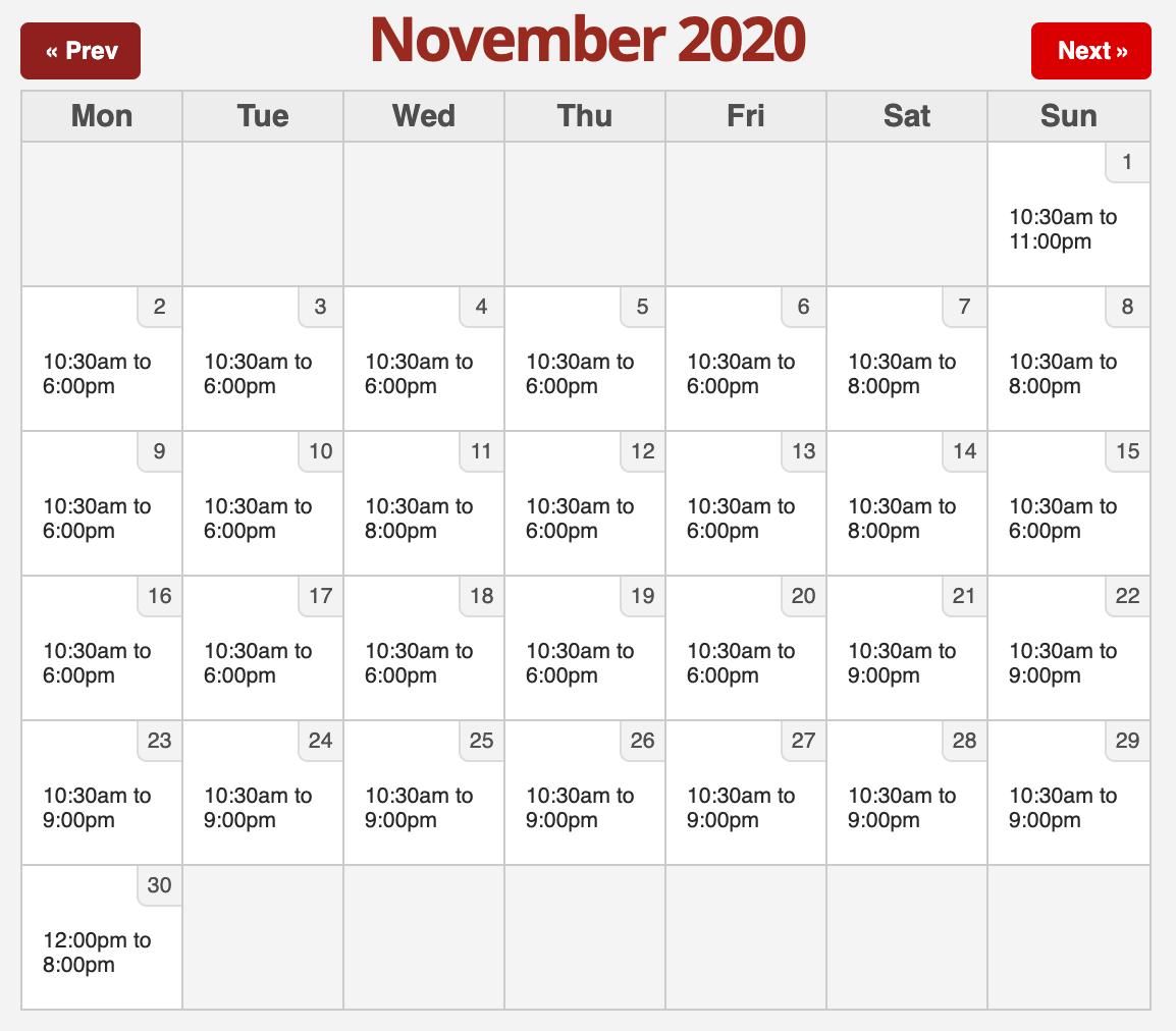 Six Flags 2020.11