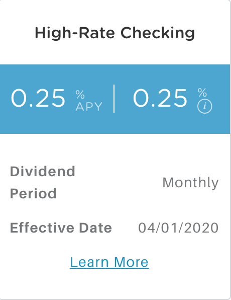 Alliant High-Rate Checking APY
