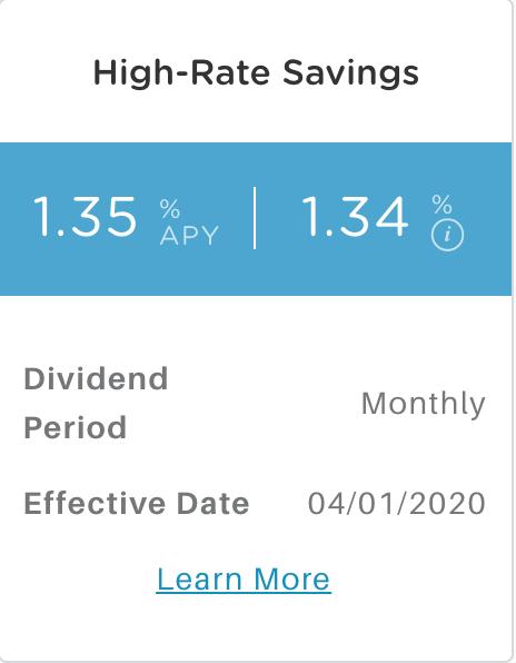 Alliant High-Rate Savings APY
