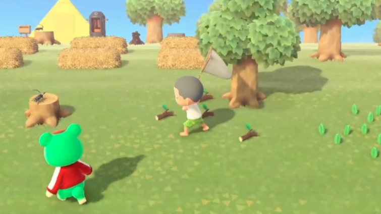 Catch Bugs in Animal Crossing
