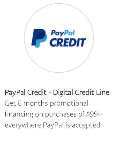 PayPal Credit - Digital Credit Line