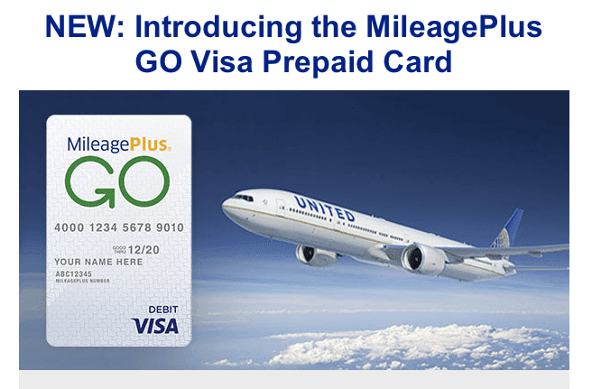 Mileage Plus® GO Visa® Prepaid Card