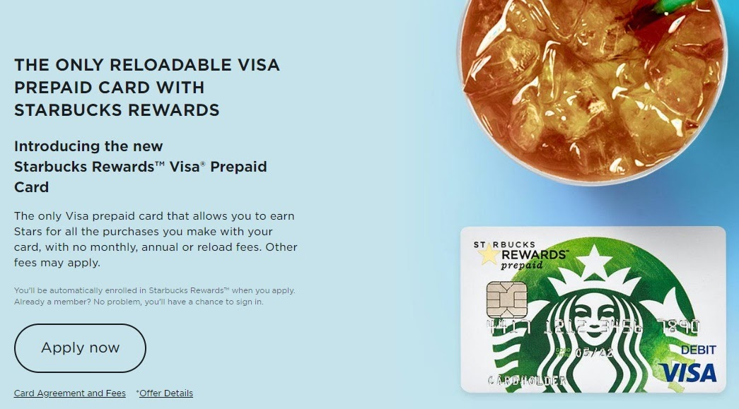 Starbucks Rewards Visa Prepaid Card