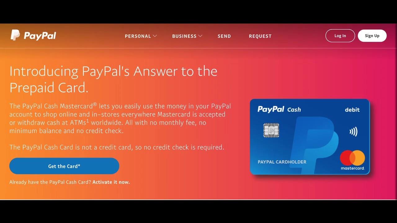 PayPal Prepaid MasterCard