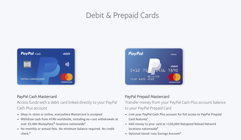 Paypal Debit Cards