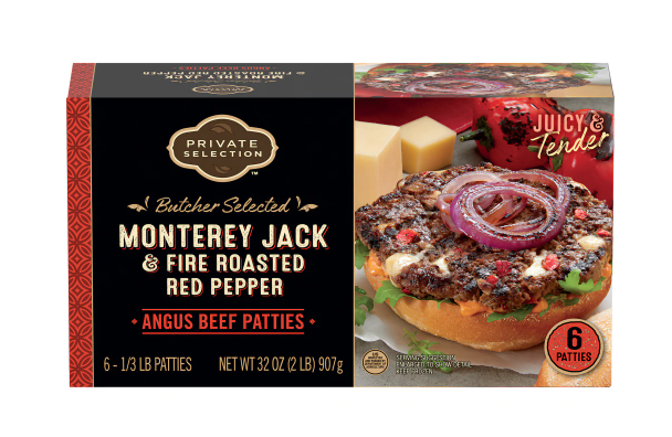 Private Selection™ Monterey Jack & Fire Roasted Red Pepper Angus Beef Patties 6 Count