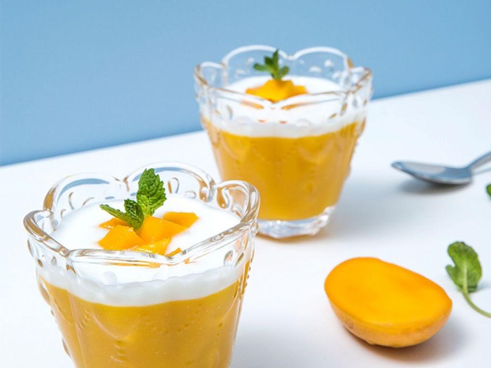 芒果酸奶布丁冻