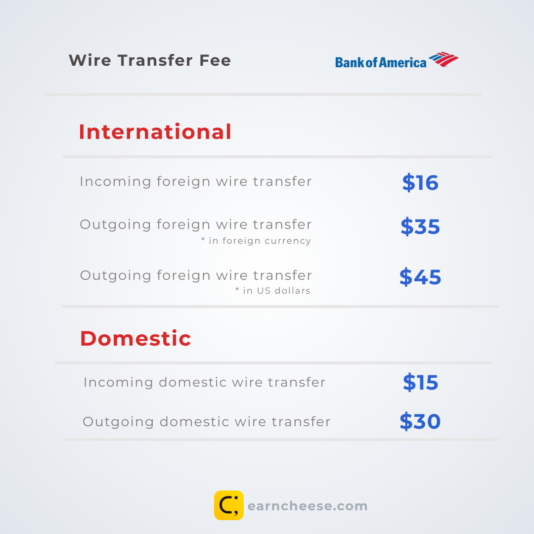 how to get wire transfer bank of america