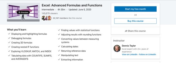 Excel:Advanced Formulas and Functions