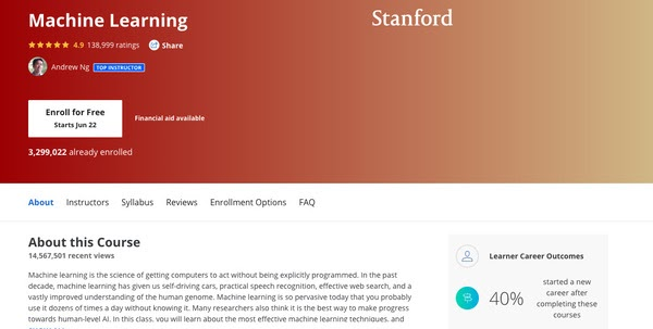 Machine Learning by Stanford