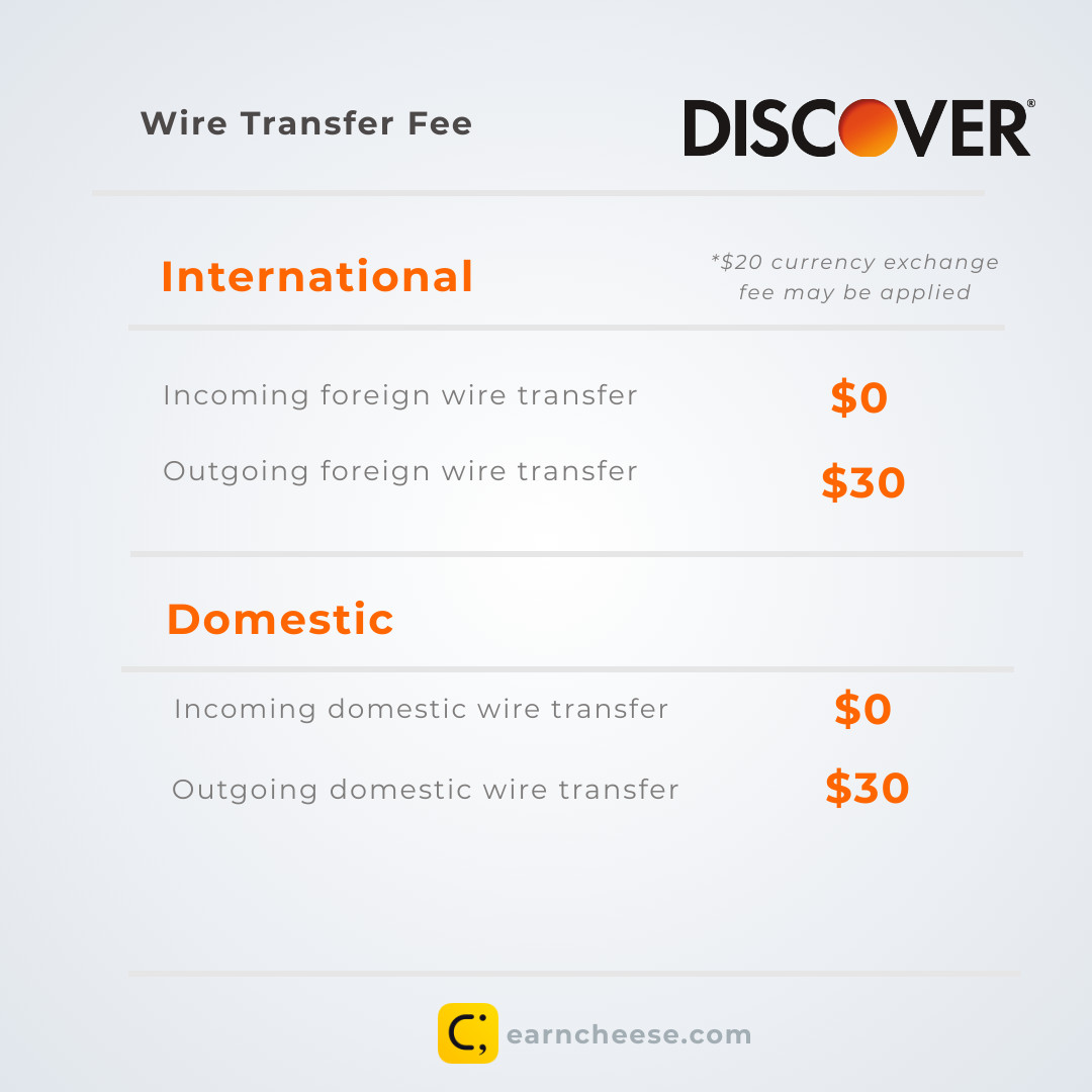 Discover Bank Wire Transfer Fees and Instructions