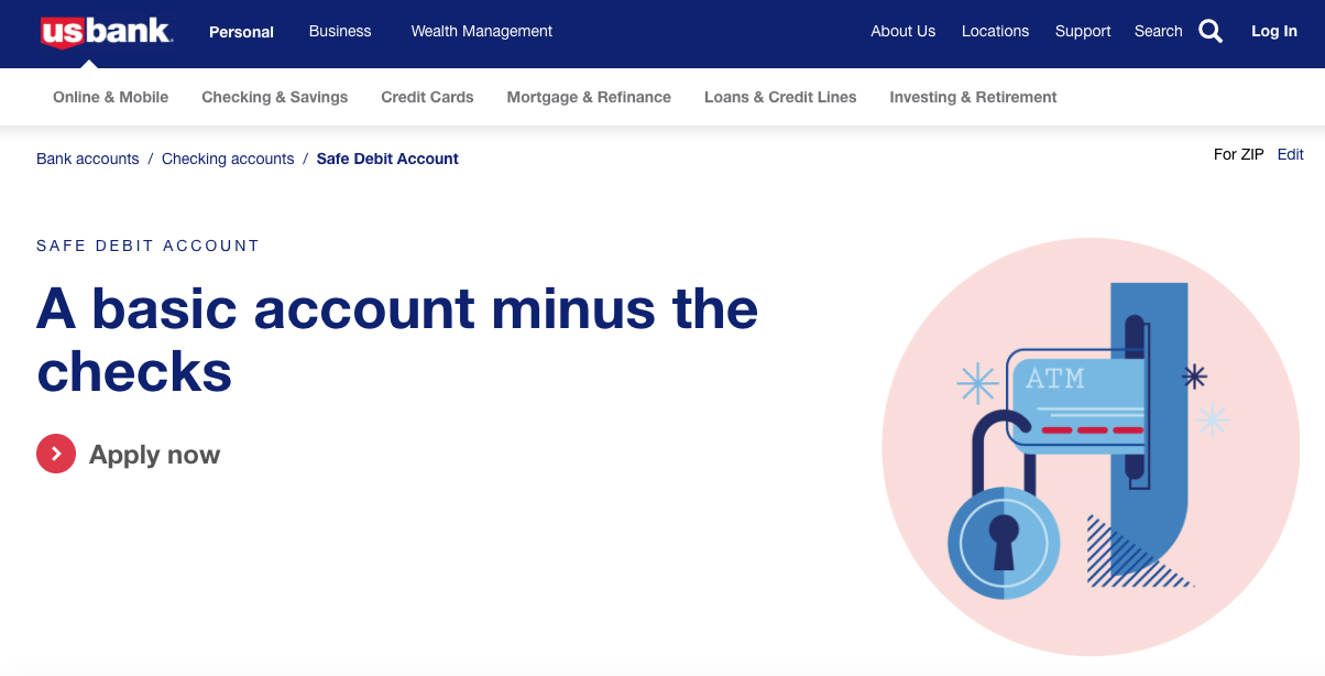 US Bank Safe Debit Checking Account