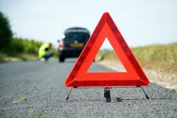 停车并放置警示牌