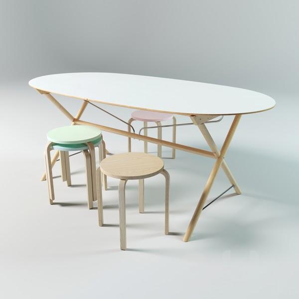 SLÄHULT 圆角餐桌