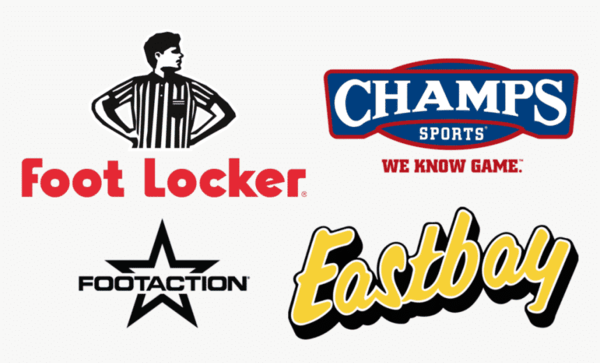 Footlocker,Champs Sports,Eastbay和Footaction