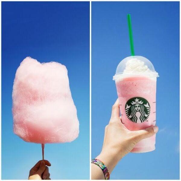 覆盆子香草星冰乐 Vanilla Frappuccino + 2 pumps Raspberry Syrup