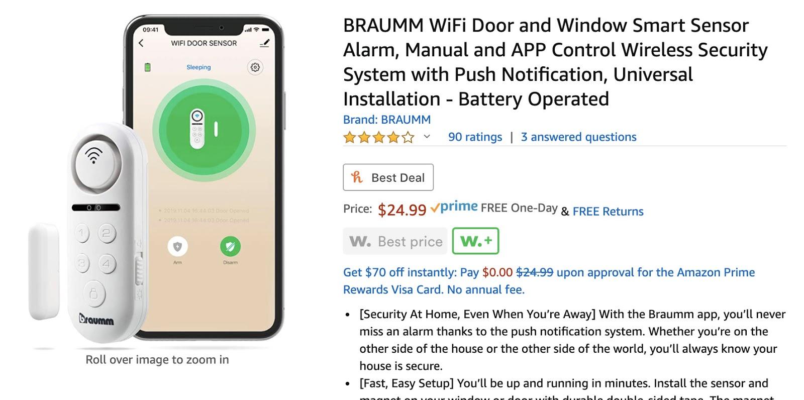 BRAUMM智能门窗防盗器