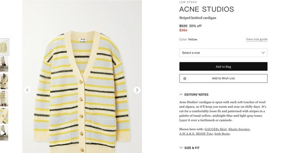 Acne Studios毛衣外套
