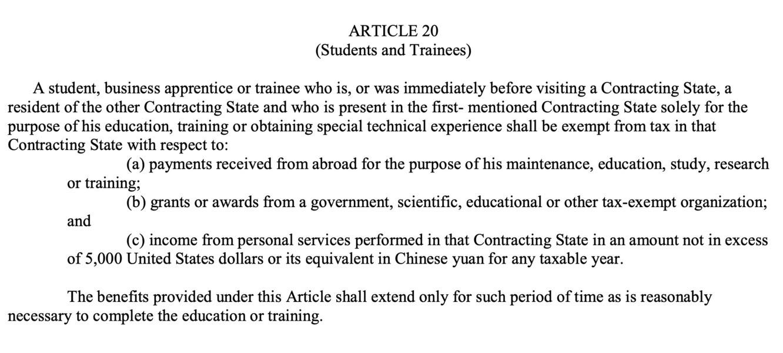 US-China tax treaty