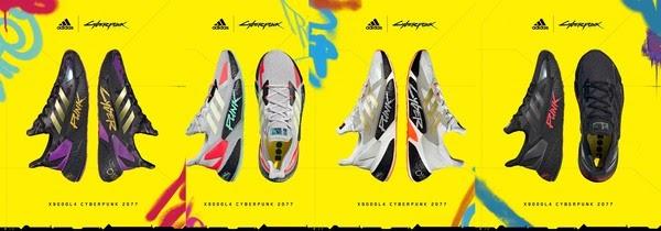 阿迪达斯 x 赛博朋克2077联名跑鞋