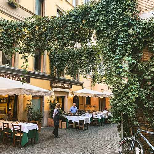 Restaurant in Trastevere Rome
