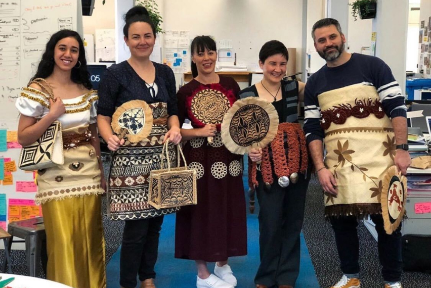 Digital Arts Networks employees celebrating the Tongan Language Week
