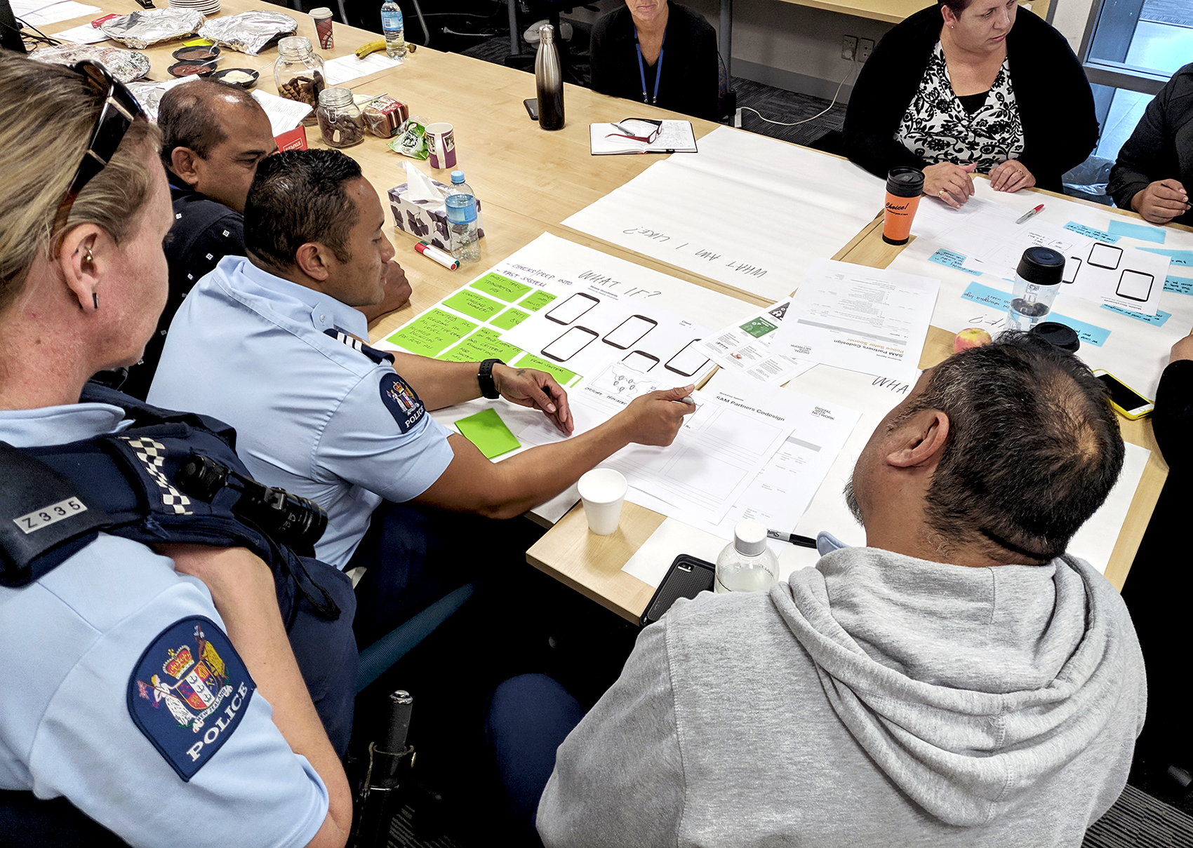 New Zealand police and staff participate in co-design activities