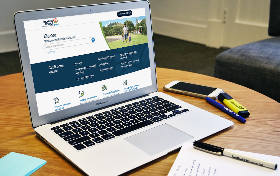 Auckland council website