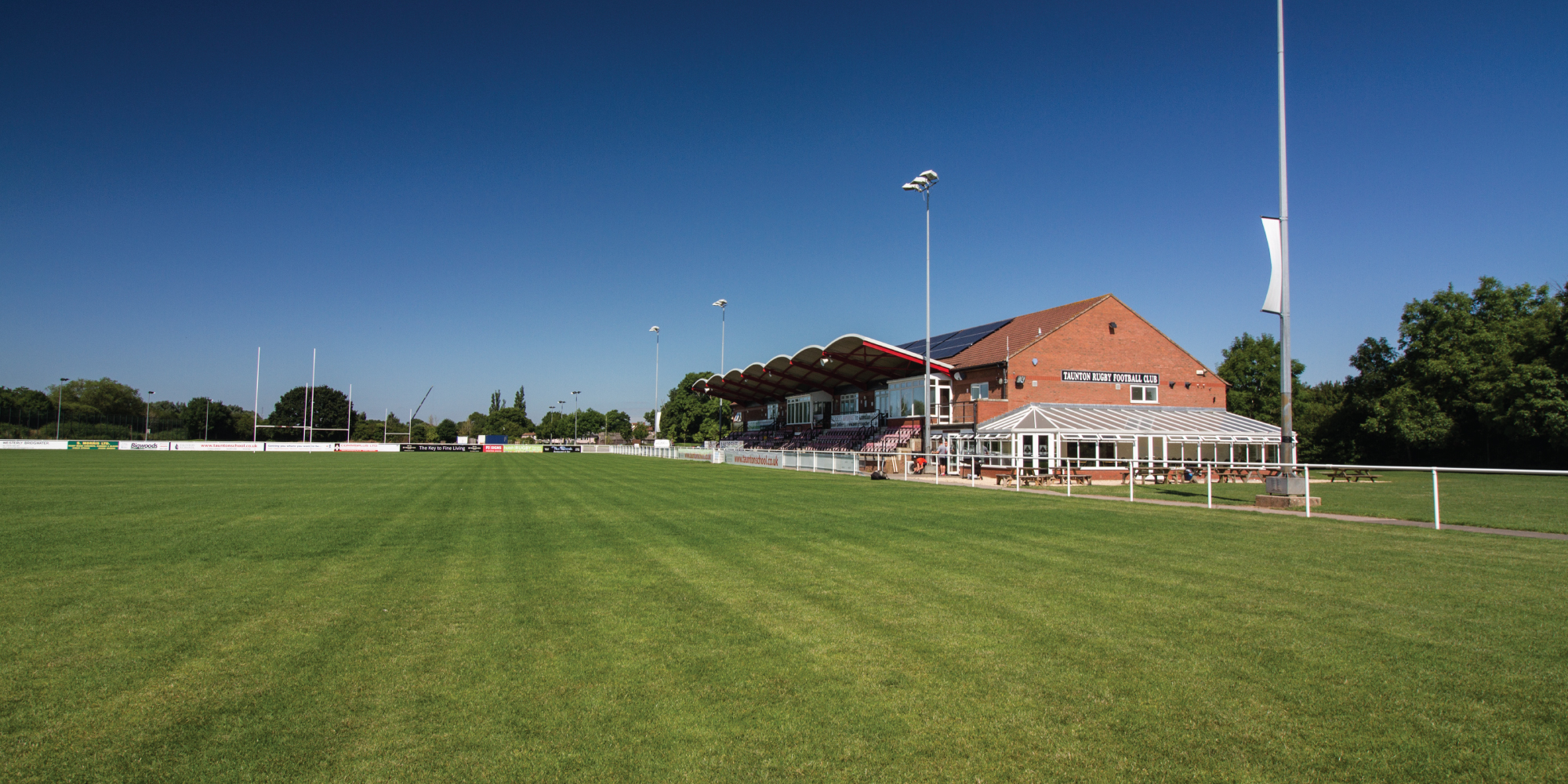 The clubhouse at Taunton Rugby Club