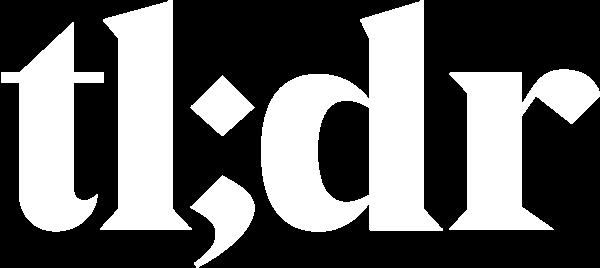 tldr logo white