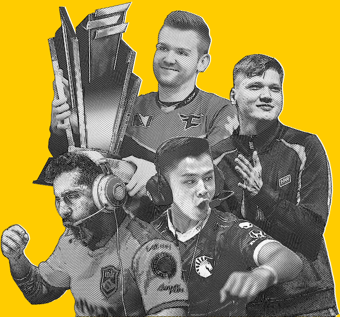 Hero image of coldzera, s1mple, niko and stewie2k. Original photos licensed from HLTV.org.