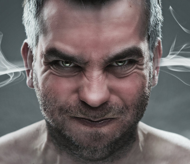 picture of angry man with steam coming from his ears