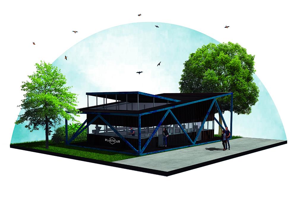 punto de reciclaje - plasticar - arquitectura - reciclado