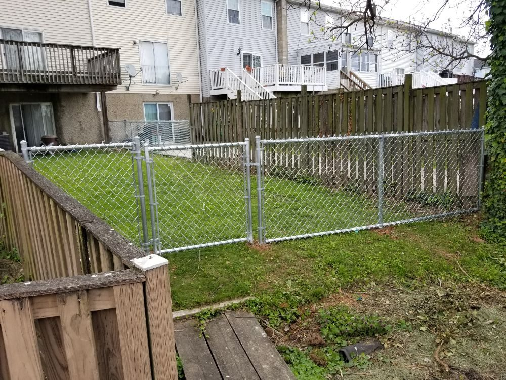 4ft Residential Galvanized Chain Link Fence with Walk Gate in Dundalk, MD