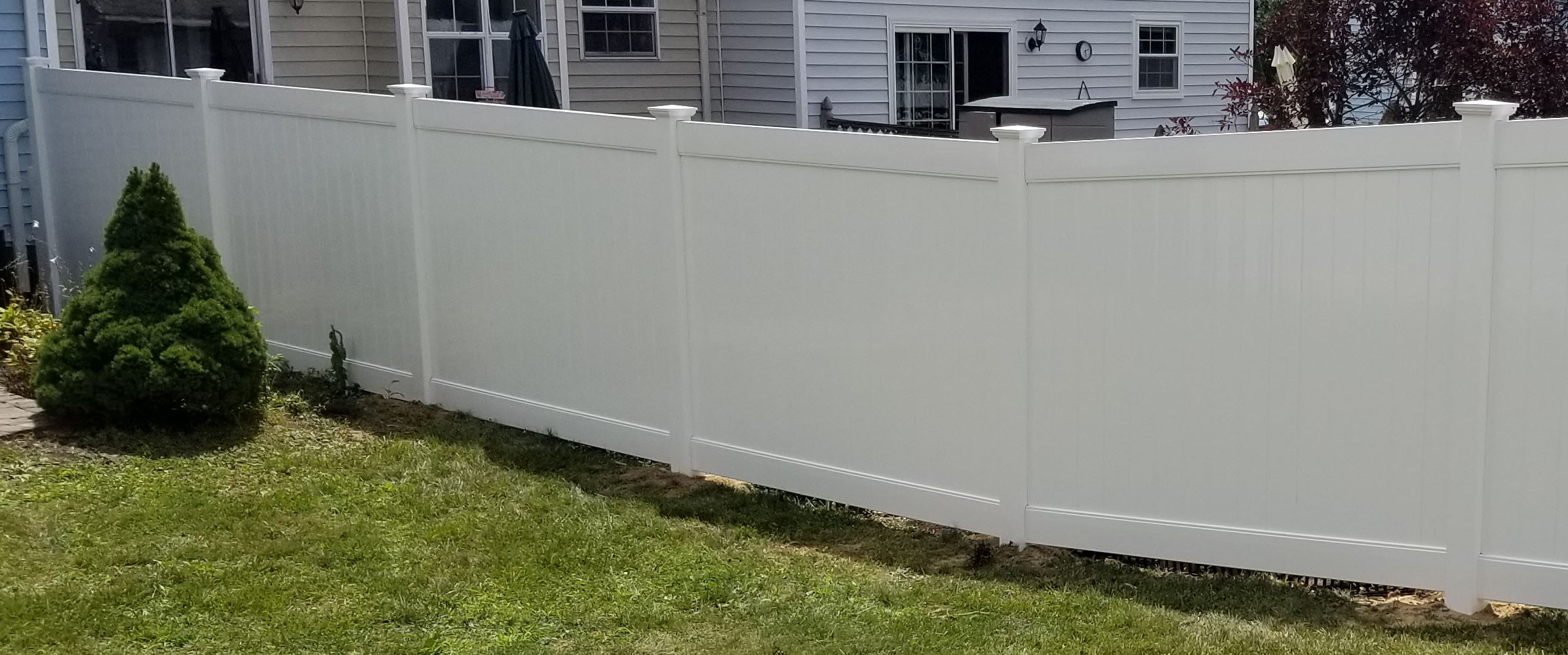 6ft White Vinyl PVC Fence