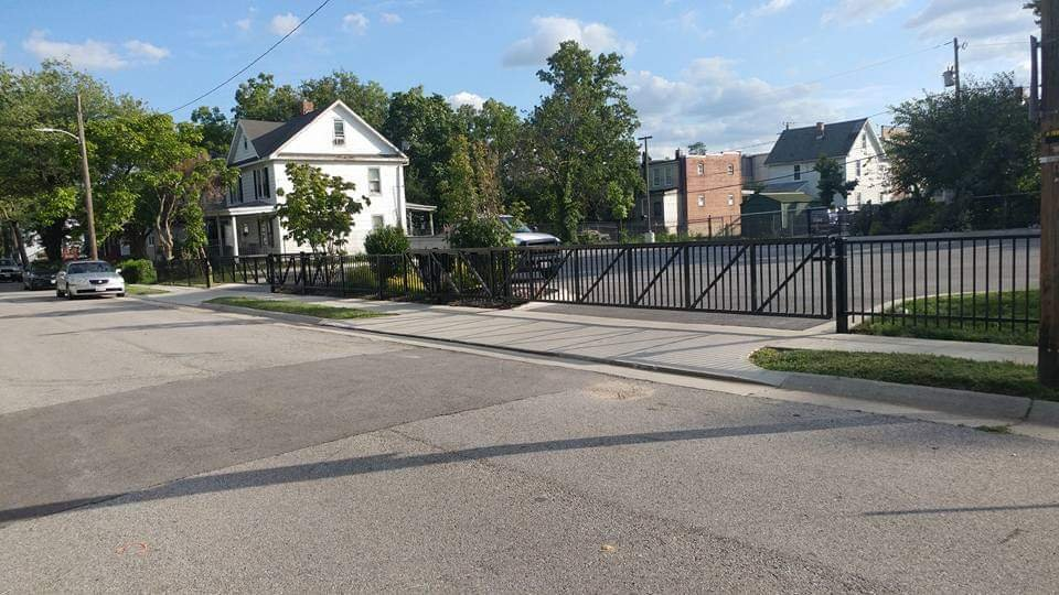 4ft Ornamental Aluminum Fence with Automatic Slide Gate